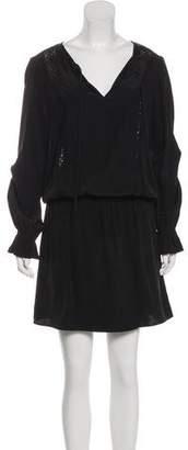 Frame Silk Lace-Trimmed Dress