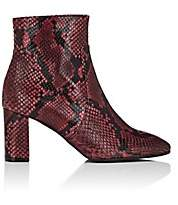Barneys New York Women's Square-Toe Snakeskin Ankle Boots - Red