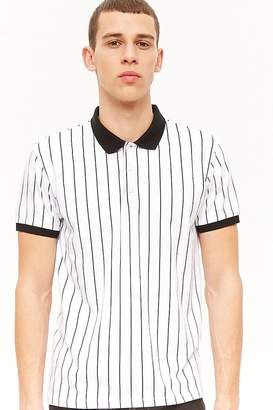 Forever 21 Pinstriped Polo Shirt