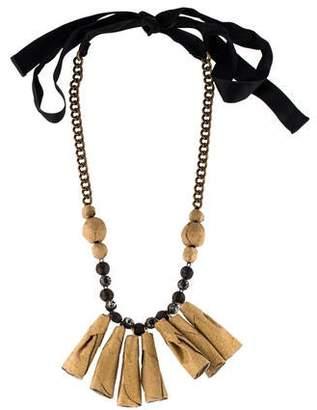 Marni Crystal Fringe Collar Necklace