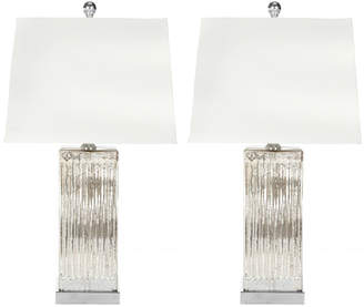 Safavieh Rock Crystal Square Table Lamps, Set of 2