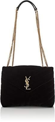 Saint Laurent Women's Monogram Loulou Small Velvet Shoulder Bag
