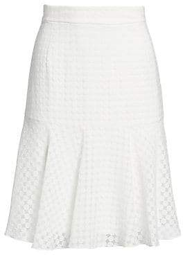 Akris Punto Women's Lace Flare Hem A-line Skirt