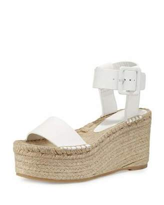 Vince Abby Leather Espadrille Sandal, Plaster $295 thestylecure.com