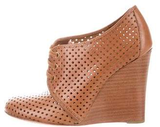 Tory Burch Perforated Leather Wedge Booties