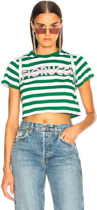 Fiorucci Iconic Stripes Cropped Tee