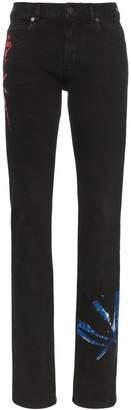 Calvin Klein tie-dye print slim-fit Jeans