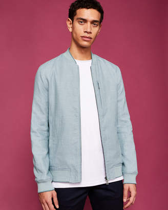 Ted Baker RANEY Linen-blend bomber jacket