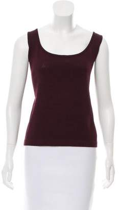 St. John Sleeveless Wool-Blend Top