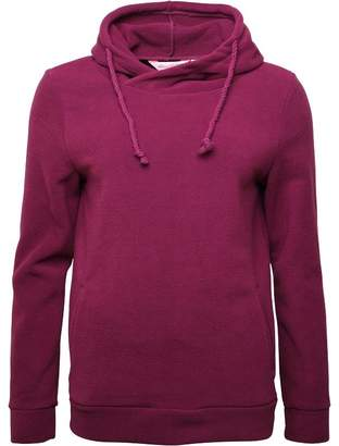 Board Angels Womens Hooded Polar Fleece Top Magenta Purple