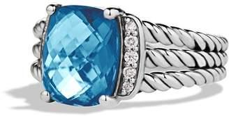 David Yurman 'Wheaton' Petite Ring with Semiprecious Stone & Diamonds