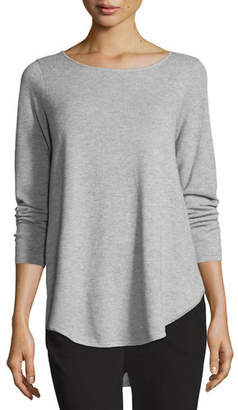 Eileen Fisher Plus Size Long-Sleeve Waffle Tunic