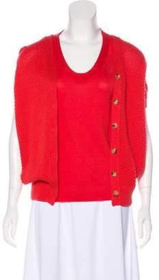 Loro Piana Silk-Blend Knit Cardigan Set