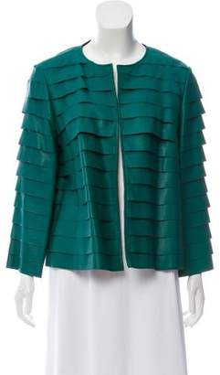 Lafayette 148 Leather Tiered Jacket