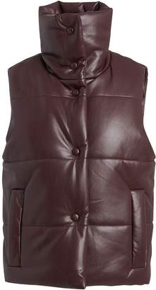 Nanushka Morillo Vegan Leather Puffer Vest