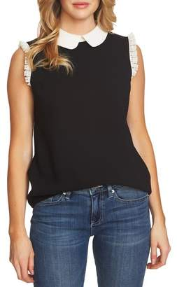 Cynthia Steffe CeCe by Lace Trim Collared Blouse