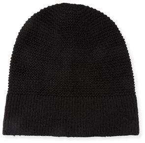 Rebecca Minkoff Garter-Stitched Headphone Beanie Hat