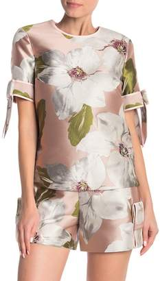 Ted Baker Chatsworth Bloom Bow Sleeve Top