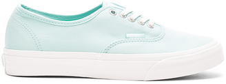 Vans Brushed Twill Authentic Slim Sneaker $55 thestylecure.com