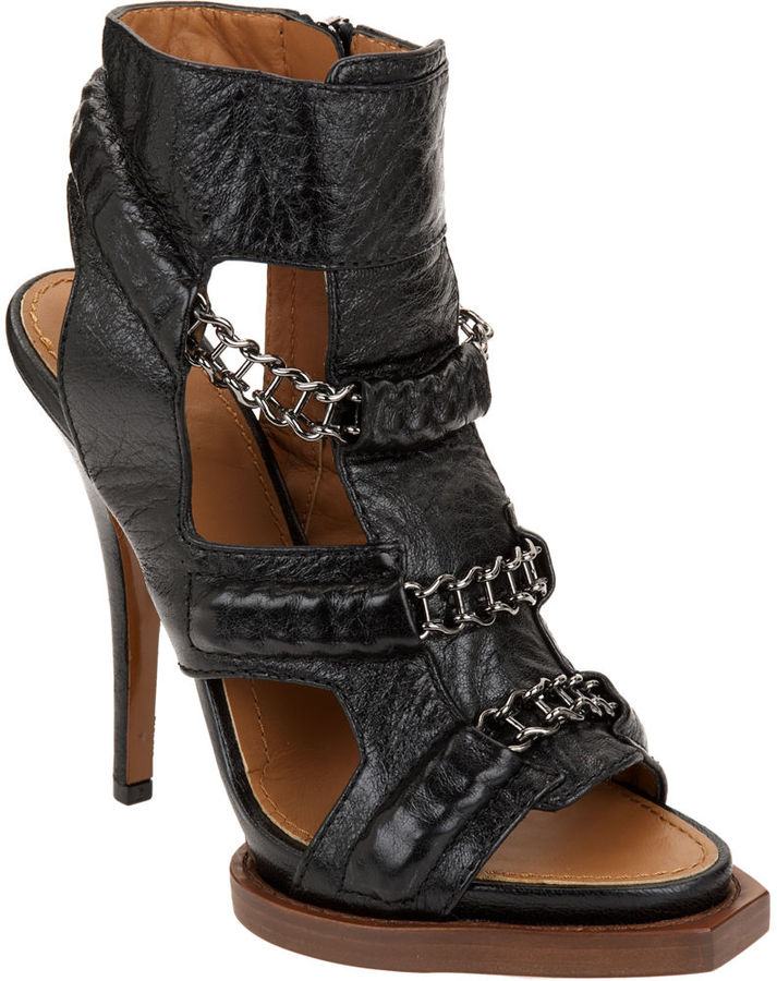 Givenchy Chain Link Gladiator - Black