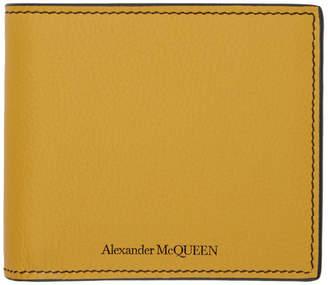 Alexander McQueen (アレキサンダー マックイーン) - Alexander Mcqueen Alexander McQueen イエロー サンフラワー バイフォールド ウォレット