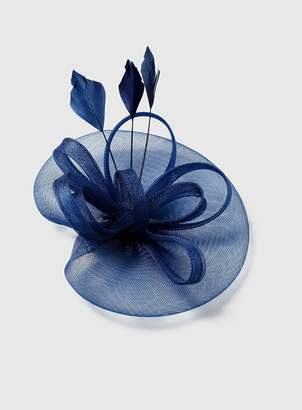 Dorothy Perkins Womens Navy Feather Fascinator Clip