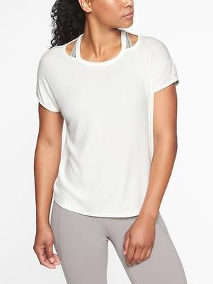 Athleta Glimpse Open Neck Tee