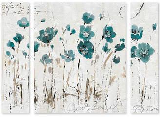 "Trademark Global Lisa Audit 'Abstract Balance VI Blue' Multi Panel Art Set Large - 41"" x 30"" x 2"""