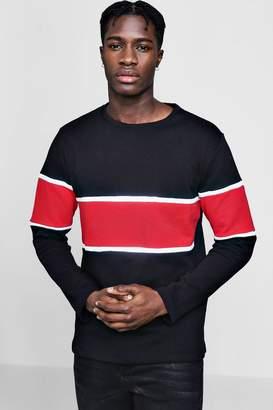 boohoo Colour Block Panel Sweater