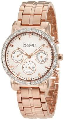 August Steiner Women's ASA841RG Swiss Quartz Multifunction Crystal Watch