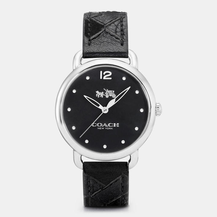 Coach  COACH Coach Delancey Stainless Steel Patchwork Leather Strap Watch