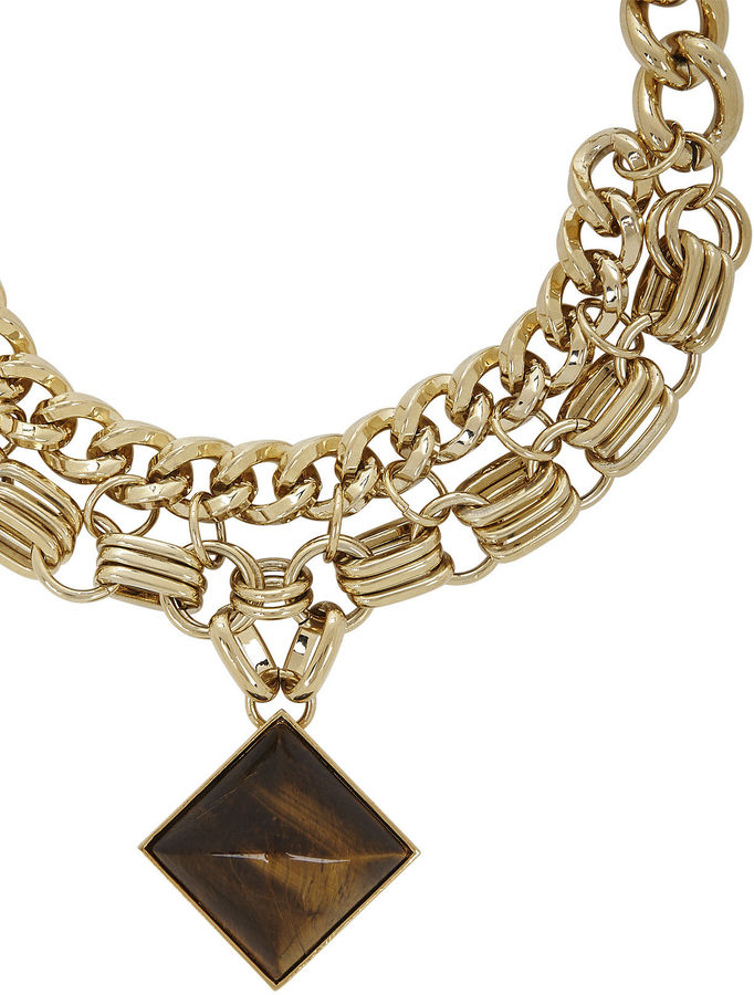 BCBGMAXAZRIA Multichain Necklace With Signature Pyramid Pendant