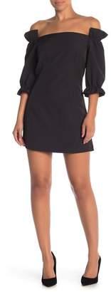 OnTwelfth Off-the-Shoulder 3\u002F4 Puff Sleeve Dress