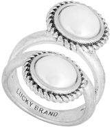 Lucky Brand May Chase Double Faux Pearl Ring