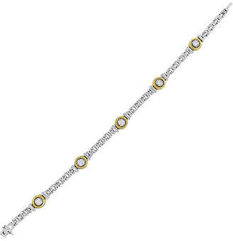 One Kings Lane Vintage 18K Round Diamond Bezel Set Bracelet - Raymond Lee Jewelers
