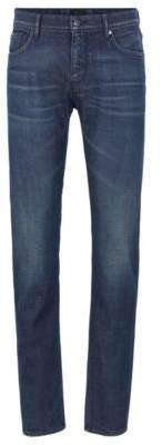 BOSS Extra-slim-fit low-rise jeans in Italian stretch denim