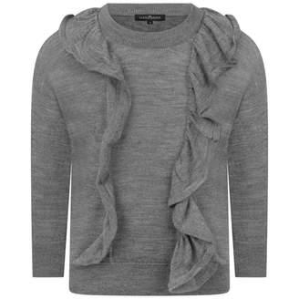 Little Remix Little RemixGirls Grey Aza Ruffle Sweater