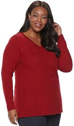 Croft & Barrow Plus Size V-Neck Sweater