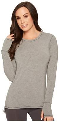 Lauren Ralph Lauren Modal Spandex Lounge Crew Neck Long Sleeve Top Women's Pajama