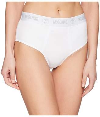 Moschino Ribbed High-Waisted Brief Women's Underwear