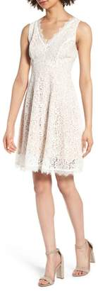 Soprano Lace Fit & Flare Dress