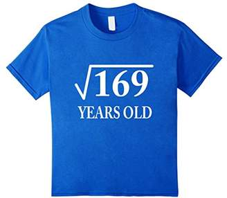 Square Root 169 13th Birthday 13 yrs years old Bday Tshirt T