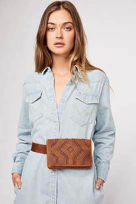 Leather Rock Latitude Studded Belt Bag