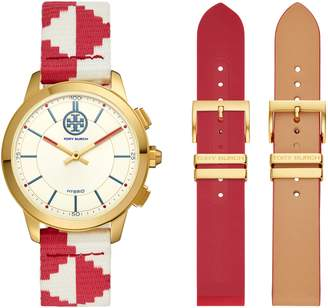 Tory Burch The Collins Hybrid Woven Strap Smart Watch Set, 38mm
