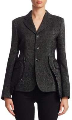 Comme des Garcons Button-Front Shimmer Jacket