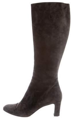 brand new 7450f 07de3 Christian Louboutin Gray Suede Women's Boots - ShopStyle