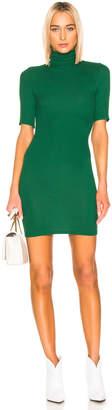 Enza Costa (エンザ コスタ) - Enza Costa Half Sleeve Turtleneck Mini Dress in Dark Emerald | FWRD