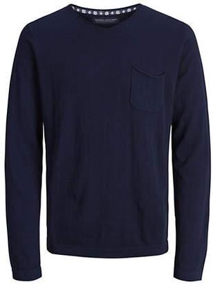 Jack and Jones V-Neck Cotton Cashmere Sweater