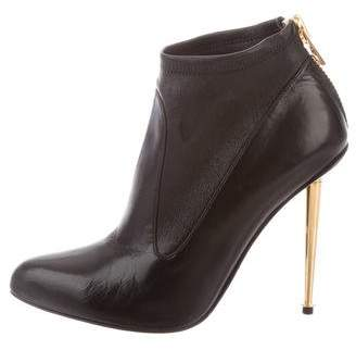Tom Ford Leather Stiletto Booties