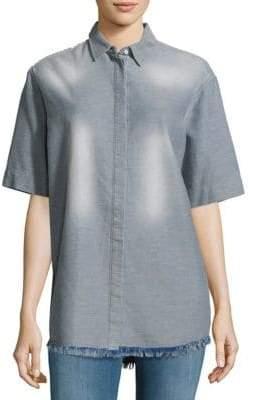 IRO Mindy Textured Fringed Shirt